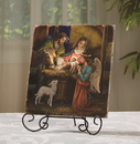 Ambrosiana B3092 B3092 Marco Sevelli Tile Plaque - Away in a Manger