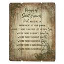 Gerffert B3125 Wood Pallet Sign - Prayer Of Saint Francis