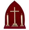 Sudbury B3544 Altar Set With Background - Plain Cross