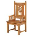 Robert Smith B3993 Florentine Collection Celebrant Chair - Medium Oak