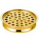 Sudbury B4162 Polished Steel Communion Tray - Brass Tone