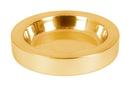 Sudbury B4164 Polished Steel Bread Plate Insert - Brass Tone