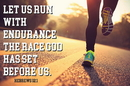 Christian Brands B4511 Let us run with Endurance the Race God has set Before Us