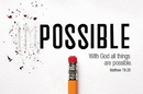 Christian Brands B4517 With God all Things are Possible