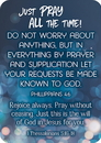 Christian Brands B4581 Just  Pray all the Time