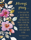 Christian Brands B4656 Square Magnet - Always Pray