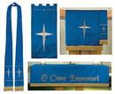 RJ Toomey B4735 Maltese Jacquard Set of 3: Blue - Includes B4732-B4734