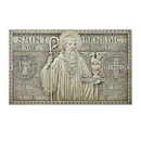 Avalon Gallery D1037 Saint Benedict Garden Plaque