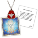 Creed D1368 Devotional Medal with Chain - Confirmation Dove Cross