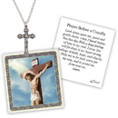 Creed D1369 Devotional Medal with Chain - Crucifix