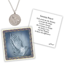 Creed D1376 Devotional Medal with Chain - Praying Hands