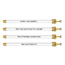 Christian Brands D1835 Crown Pen - White Holiday