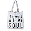 Faithworks D2357 It is Well with My Soul Platinum Tote Bag