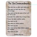 Christian Brands D2887 Verse Card - Ten Commandments