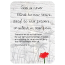 Christian Brands D2889 Verse Card - God is Never Blind to Your Tears