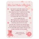 Christian Brands D2892 Verse Card - Why God Made Little Girls