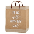 Faithworks D3208 Farmer'S Market Large Tote - It Is Well With My Soul