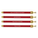 Faithworks D3224 Christmas Crown Pen - Red