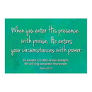 Christian Brands D3299 Pass It On Cards: When You Enter His Presence
