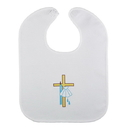 Cambridge D3399 Cross/Shell Baptismal Bib 6 Pk