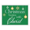 Christian Brands D3580 Yard Signs: Christmas Begins Christ