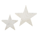Christian Brands D3689 Paulownia White Stars-Set Of 2