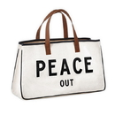 Christian Brands D3714 Canvas Tote - Peace Out