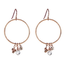 Christian Brands D3768 Rose Gold - Dangle Hoops