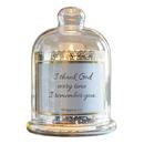 Christian Brands D3942 Cloche Dome Candleholder Christian Verses - I Thank God