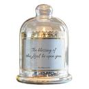 Christian Brands D3943 Cloche Dome Candleholder Christian Verses - Blessing