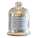 Christian Brands D3945 Cloche Dome Candleholder Christian Verses - Let Your Light Shine