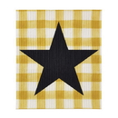 Christian Brands D4287 Yellow Buffalo Check - Organic Dishcloth