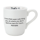 Christian Brands D4290 That's All® Mug - Super Cute - Breast Cancer