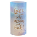 Christian Brands D4314 Garden Party General Verses Led Candles - Love You To The Moon