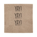 Christian Brands D4428 Yay! - Beverage Napkin