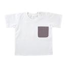 Stephan Baby D4622 Heirloomed T-Shirt - White W/ Gray Pocket