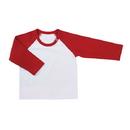 Stephan Baby D4675 Baseball T-Shirt - White/Red, 6-12 Months