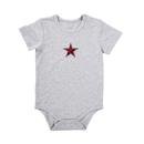 Stephan Baby D4681 Snapshirt - Grey W/ Red Plaid Star, 6-12 Months