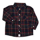 Stephan Baby D4682 Flannel Shirt - Navy Plaid, 6-12 Months