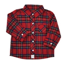 Stephan Baby D4683 Flannel Shirt - Red Plaid, 6-12 Months