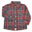 Stephan Baby D4684 Flannel Shirt - Gray Plaid, 6-12 Months