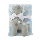 Stephan Baby D4700 Blanket Toy Set - Blue Giraffe