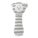Stephan Baby D4712 Knit Rattle - Gray Lamb