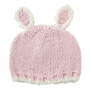 Stephan Baby D4720 Knit Hat - Pink Bunnie, Newborn