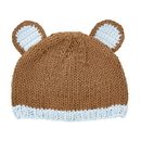 Stephan Baby D4721 Knit Hat - Brown Bear, Newborn
