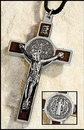 Milagros DS705 St Benedict Pendant with Cord