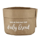 Faithworks F1240 Washable Paper Holder - Large - Natural Kraft - Give Us This Day Our Daily Bread