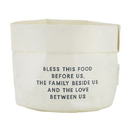 Faithworks F1243 Washable Paper Holder - Large - White - Bless This Food