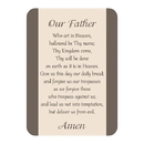 Christian Brands F1275 Verse Card - Our Father