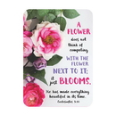 Christian Brands F1279 Verse Card - Flower Does Not Compete
